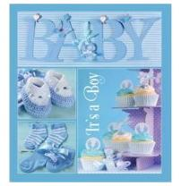 Альбом EVG 20sheet Baby collage Blue w/box (UA)