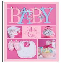 Альбом EVG 20sheet Baby collage Pink w/box (UA)