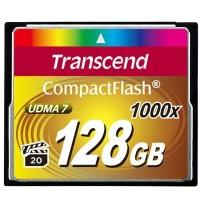 Карта памяти TRANSCEND Compact Flash 128 GB (1000X)