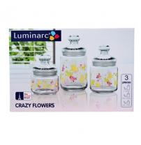 Набор банок Luminarc Club Aime Crazy Flower H9942 3 штуки