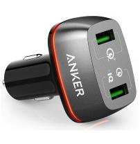 авто зарядка ANKER PowerDrive+ 2 with Quick Charge 3.0 V3 (Черный)
