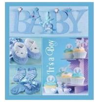 Альбом EVG 10x15x56 BKM4656 Baby collage Blue