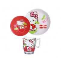 Столовый сервиз Hello Kitty Cherries 3 пред. Luminarc J0768