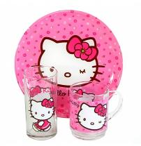 Столовый сервиз Hello Kitty Sweet Pink 3 пред. Luminarc H5483