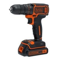 Шуруповерт BLACK&DECKER BDCDC18KB, 18V, 30Нм, Li-Ion, 2акк.